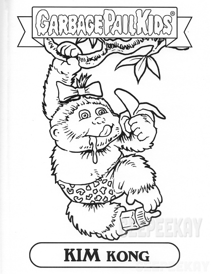 garbage pail kids coloring pages - photo#24