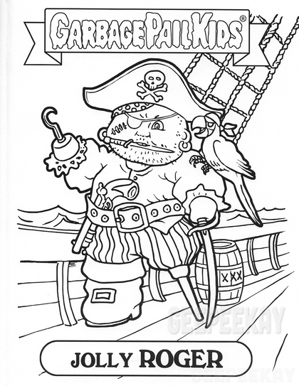 garbage pail kids coloring pages - photo#12