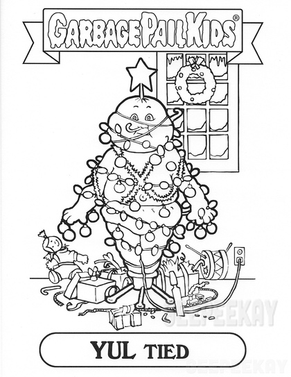 garbage pail kids coloring pages - photo#20